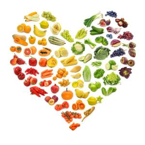 heart shaped fruit and veg